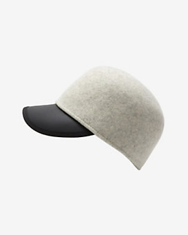 Genie by Eugenia Kim Wool/Leather Jockey Cap: Grey