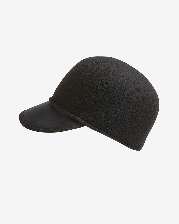 Genie by Eugenia Kim Wool/Leather Jockey Cap: Black