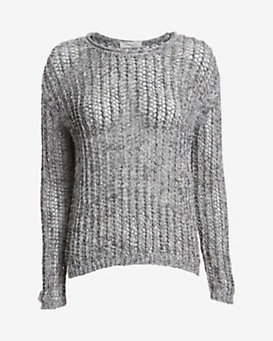Inhabit Open Weave Knit: Grey