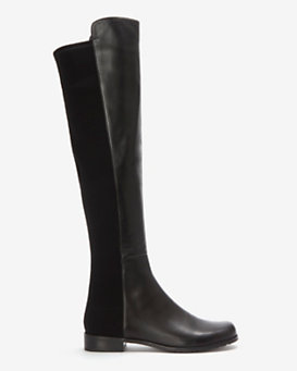 Stuart Weitzman OTK Leather Boot: Black