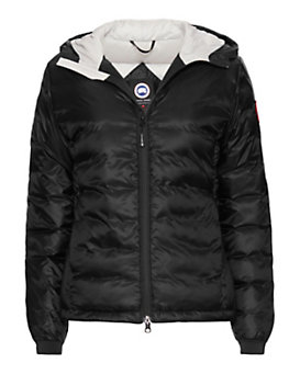 Canada Goose Camp Short Hooded Jacket: Black