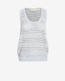 Inhabit Open Weave Crochet Tank