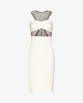 Noam Hanoch Hessa Lace Panel Dress