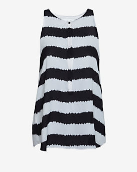 A.L.C. Lennox Streaky Stripe Sleeveless Blouse