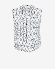 A.L.C. Ian Printed Sleeveless Blouse
