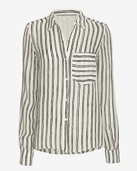 A.L.C. Troy Stripe Pattern Blouse