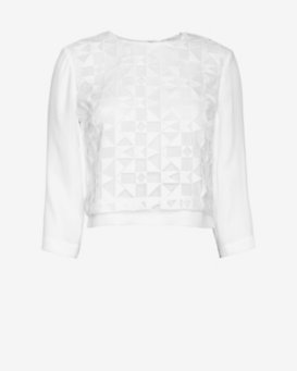 A.L.C. Althea Lace Front Top