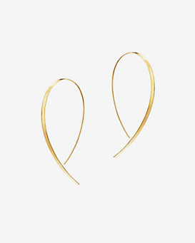 Lana Jewelry Medium Flat Upside Down Hoops