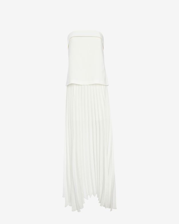 A.L.C. Brock Strapless Pleated Maxi Dress