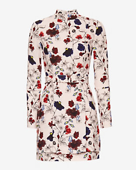 A.L.C. Charles Floral Print Belted Dress