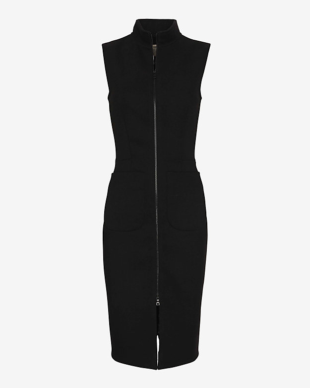 L'Agence Sleeveless Zip Front Dress