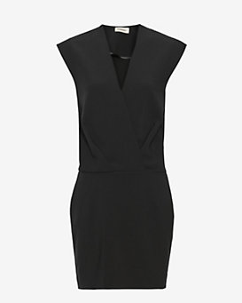 L'Agence Cara Sleeveless Cross Front Dress