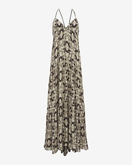 L'Agence Grace Printed Maxi Dress