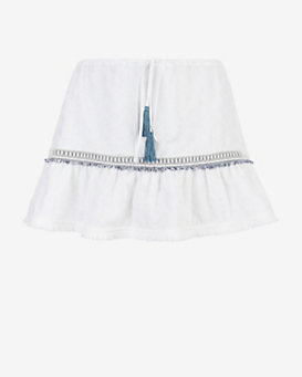 VMT EXCLUSIVE Roops Embroidered Mini Skirt