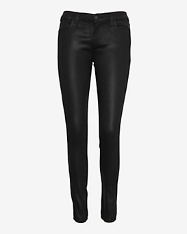 J Brand Coated Super Skinny: Black Quartz
