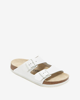 Birkenstock Arizona Leather Strap Sandals: White