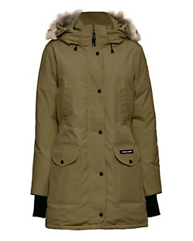 Canada Goose Trillium Fur Trim Hooded Parka: Green