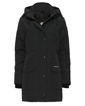 Canada Goose Trillium Fur Trim Hooded Parka: Black