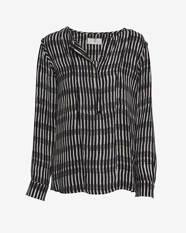 A.L.C. EXCLUSIVE Hi/Lo Striped Blouse