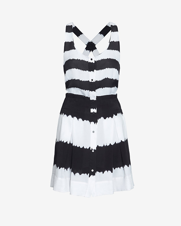 A.L.C. Bexley Streaky Stripe Button Down Dress