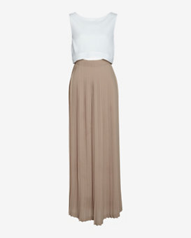 A.L.C. EXCLUSIVE Mid-Riff Cut Pleated Gown