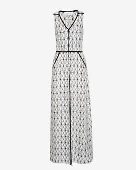 A.L.C. Jesse Printed Slit Maxi Dress