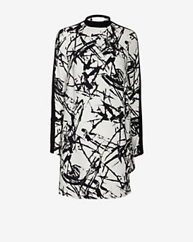 A.L.C. Isley High Neck Print Dress