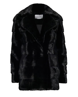 Yves Salomon EXCLUSIVE Mink Fur Overcoat: Black