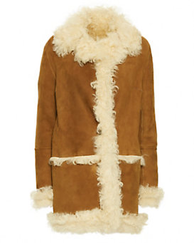 Yves Salomon Biscuit Shearling Penny Lane Coat