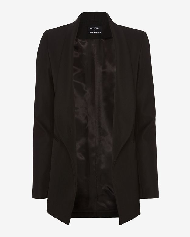 Anthony Vaccarello Wool Blazer: Black
