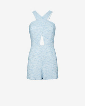 Jay Godfrey Lurex Tweed Romper