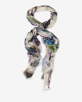 Franco Ferrari Feather Print Scarf