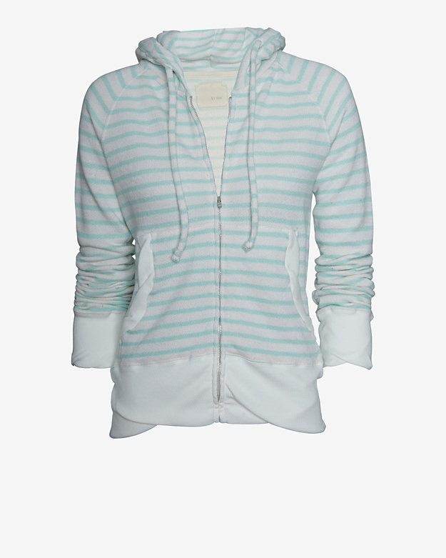 V::room Striped Zip Up Hoodie