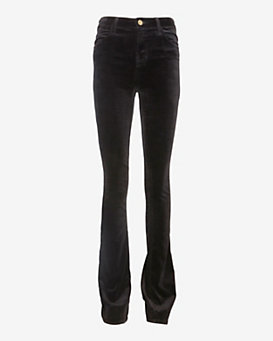 J Brand Remy Velvet Boot Cut: Black