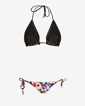 Zimmermann EXCLUSIVE Crochet Top Floral Bikini