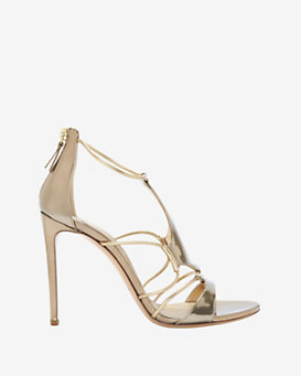 Casadei Cut Out Metallic Sandal