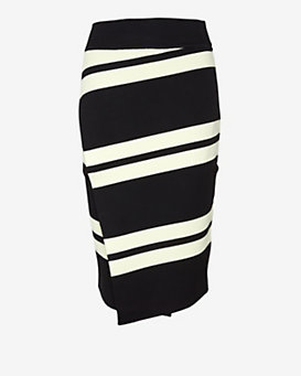 A.L.C. Clift Striped Wrap Skirt