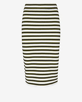 A.L.C. Marilyn Striped Knit Pencil Skirt