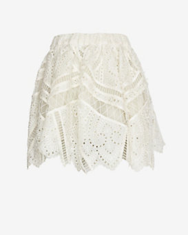 Zimmermann Lace Embroidery Bell Skirt