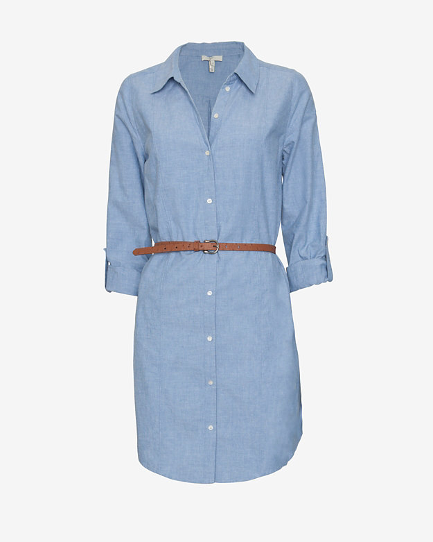 Joie Belted Chambray Shirtdress