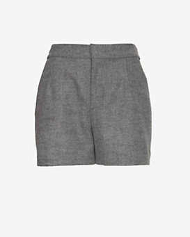 Joie Wool Shorts: Grey