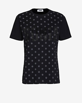 Sonia by Sonia Rykiel Dot Print Crystalized Tee