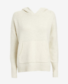 Nili Lotan Hooded Knit Sweater