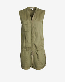 Joie Sleeveless Military Romper