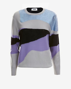 Sonia by Sonia Rykiel Metallic Intarsia Sweater
