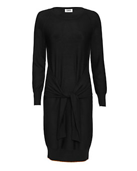 Sonia By Sonia Rykiel Tie Waist Sweater Dress: Black