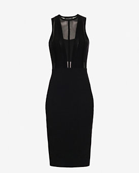 Narciso Rodrguez Linear Ridge Knit Dress