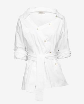 Zimmermann EXCLUSIVE Asymmetric Cotton Shirt