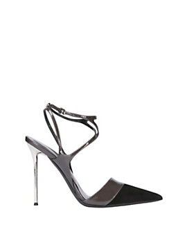 Narciso Rodriguez D'Orsay Suede/Patent Leather Pump