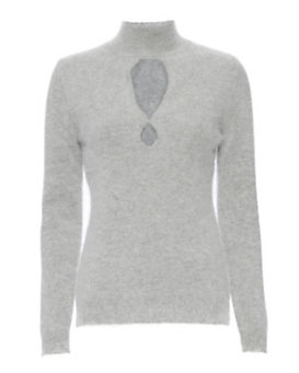 Zimmermann Arcadia Fluffy Sweater: Grey
